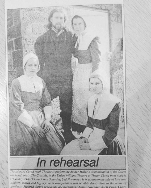 Throwback to the 1996 Clwyd Youth Theatr production of The Crucible and my sleepy turn as Betty Parris. (I was 18,LOL!) . And don't I look delighted to be appearing in the Evening Leader? 🤣. . . . . . . . . . . . . . . . #ActorsLife #Actor #Theatre #Film #TV #Gingersofinstagram #Redheadsofinstagram #Actorsofinstagram #instaactor #BritishActor #funnylady #redheadsdoitbetter #redheadsrule #redheadsunite #actingskills #redheads_of_insta #redheads_of_instagram #northerner #characteractor #londonactor #redheadoftheday #actressesofinstagram #britishactors #stageshotsunday #throwback🔙 #youththeatre #clwydyouththeatre #1996