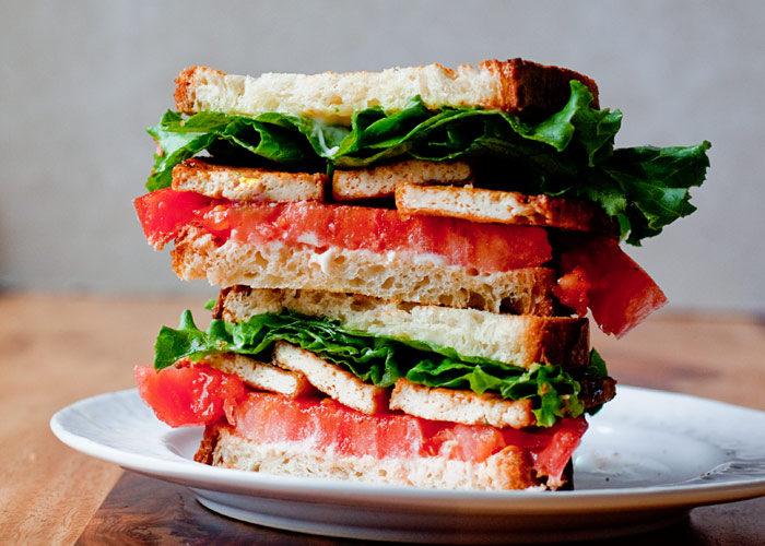 TLT (TOFU, LETTUCE, & TOMATO) SANDWICHES