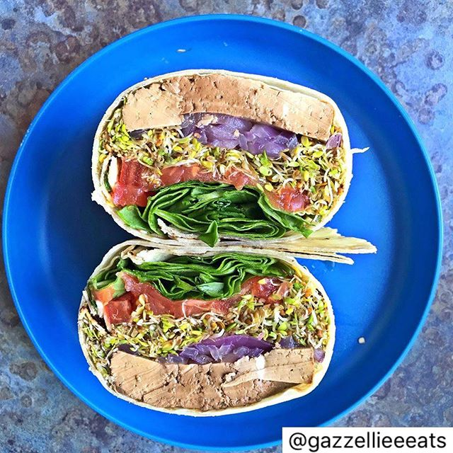 An amazing Tofu Kan Wrap with lots of veggies made by @gazzellieeeats Nailed it! #kanartist #tofukan #wrapitup