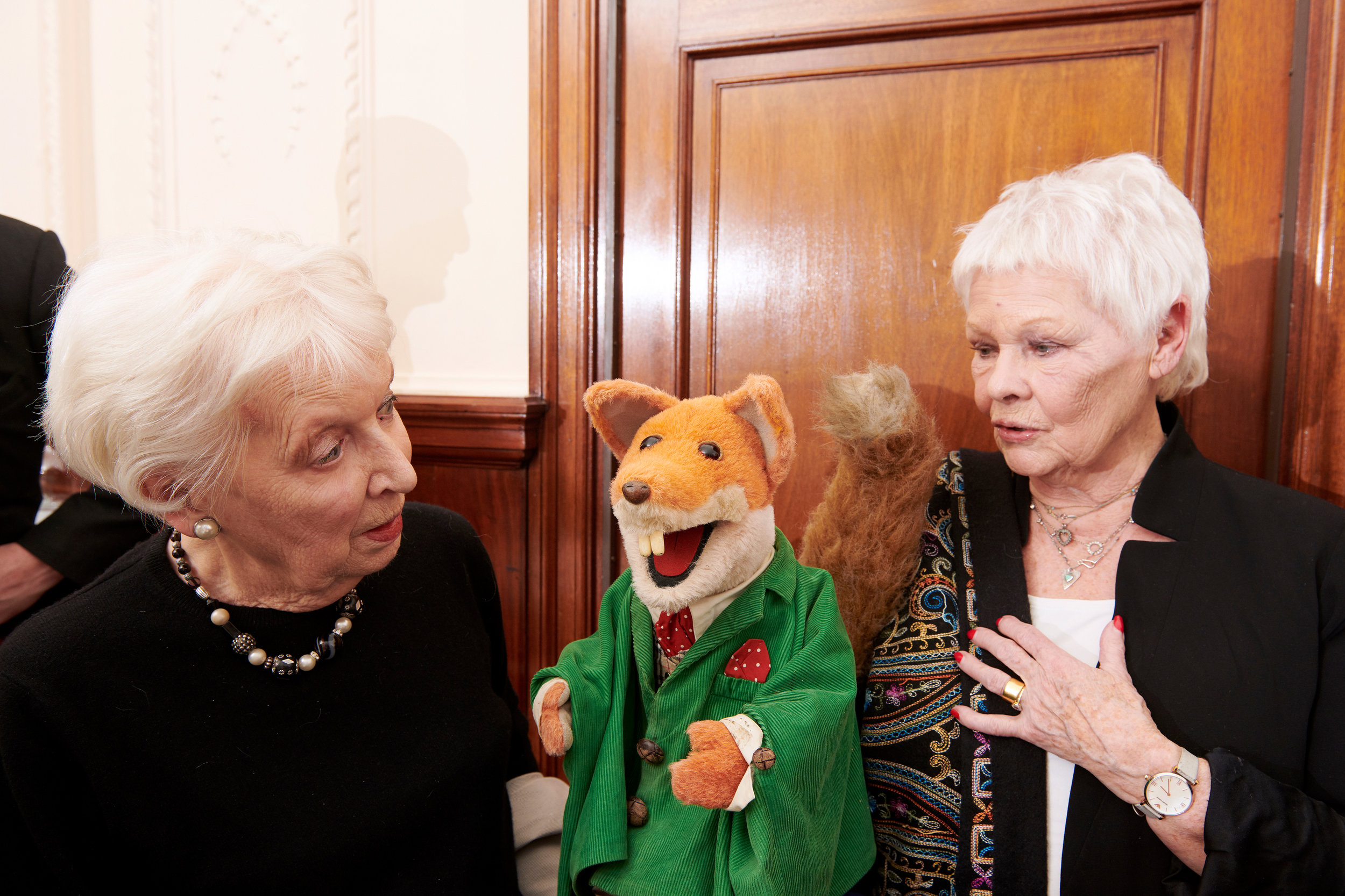June Whitfield, Basil Brush and Judy Dench