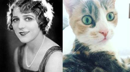 Left: Mary Pickford, Right: Grendel