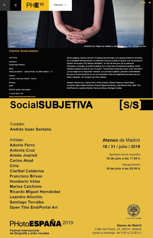 Exposición Social Subjetiva PHotoespaña