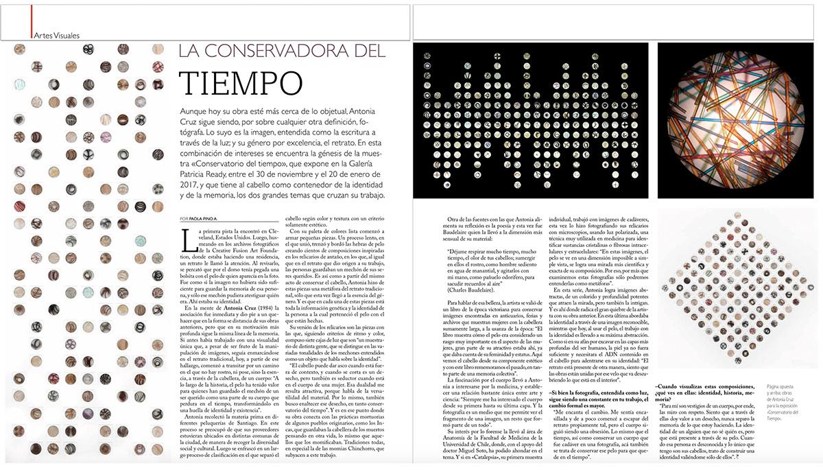 Exposición Conservatorio del Tiempo, Revista La Panera