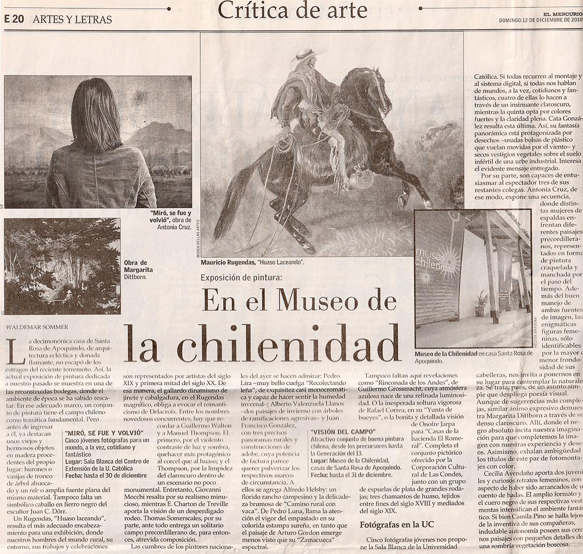 Exposición Miró,se fue y volvió, El Mercurio, Cultura, Artes y Letras