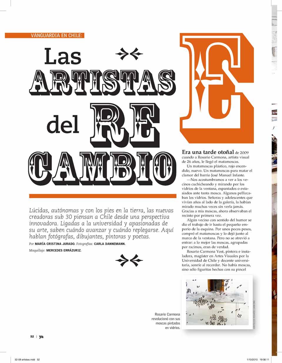 Revista YA, El Mercurio, Santiago, Chile