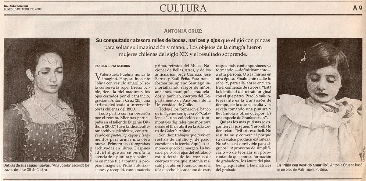 Exposición Catalepsia, El Mercurio Cultura
