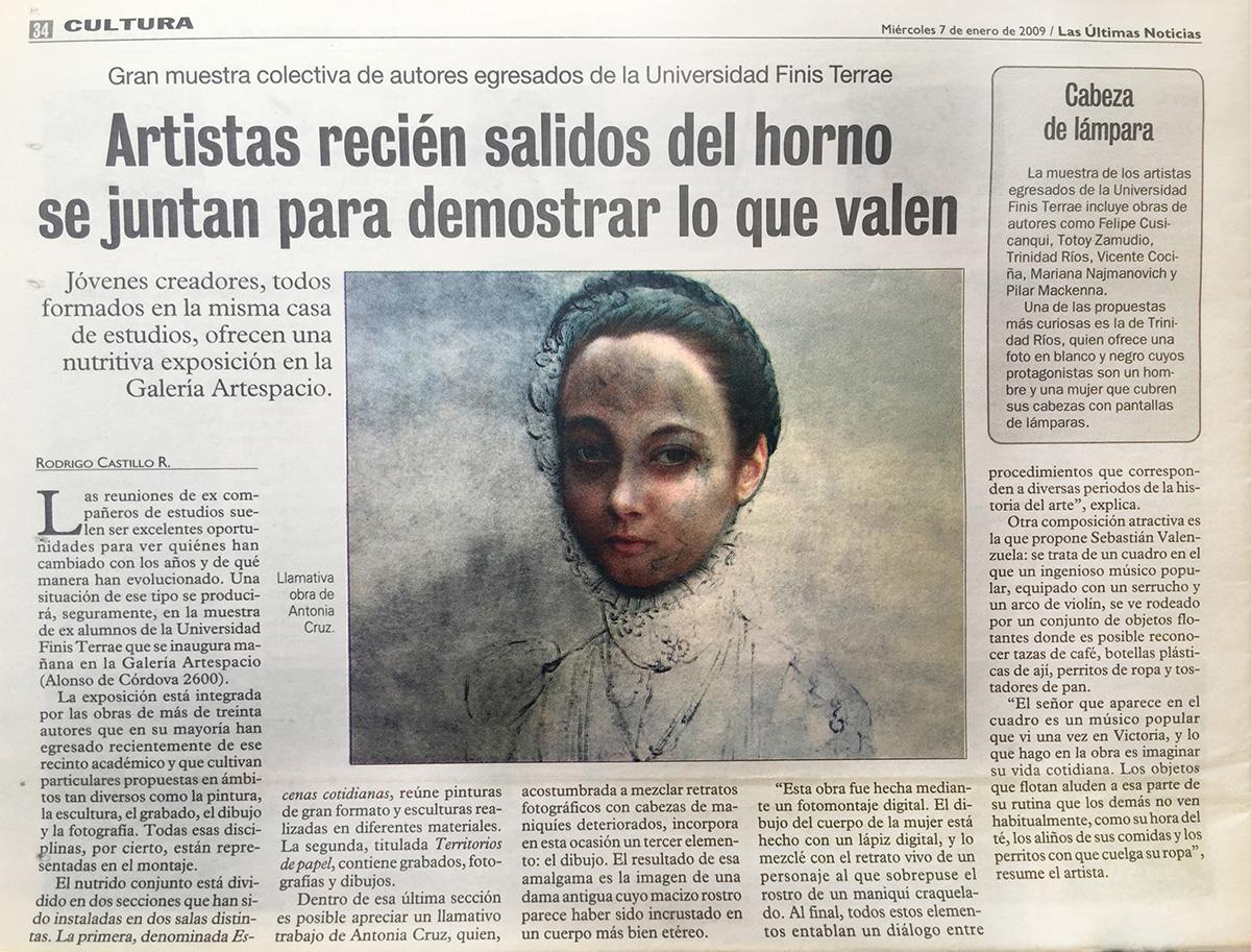 """Exposición """"Territorios de papel y Escenas Cotidianas"""", Las Ultimas Noticias, Cultura"""