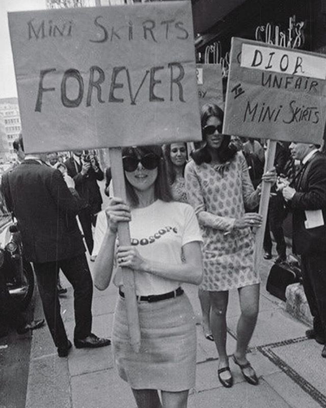 It's hard to imagine today's runways without miniskirts and long legs, but in the 60s, this trend was only beginning. Click the link in bio to read about the history behind this iconic #miniskirt protest.