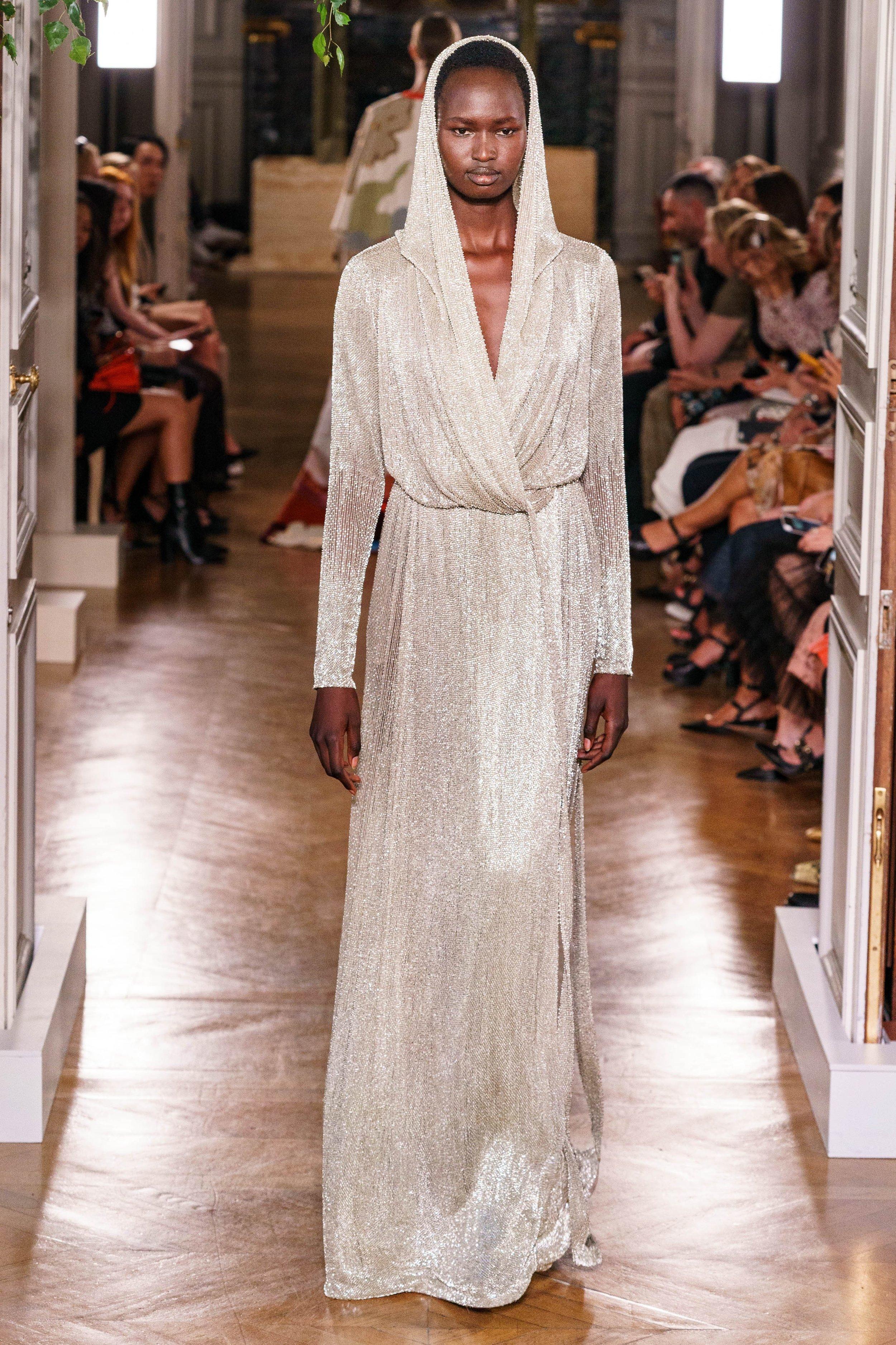 Nyarach Avouch Ayuel walking for Valentino Fall 2019 Couture. Photo: Alessandro Lucioni / Gorunway.com