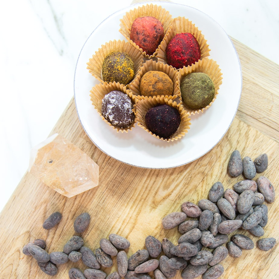 HEALTHY INDULGENCE - Decadent chocolate truffles made with organic ingredients, sweetened with raw honey and zero preservatives.