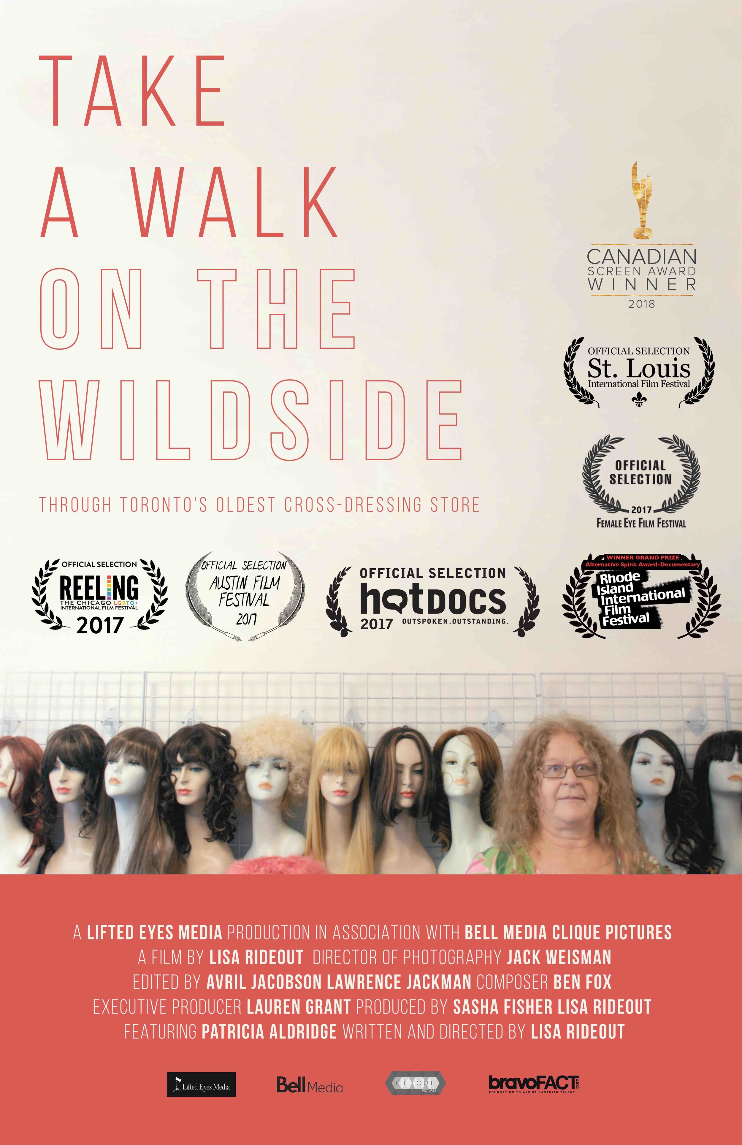 synopsis - In 1987, Wildside, one of Toronto's first cross-dressing stores began offering male to female transformations. Take a Walk on the Wildside is an intimate portrait of a space that continues to be a vital part of the cross-dressing community.