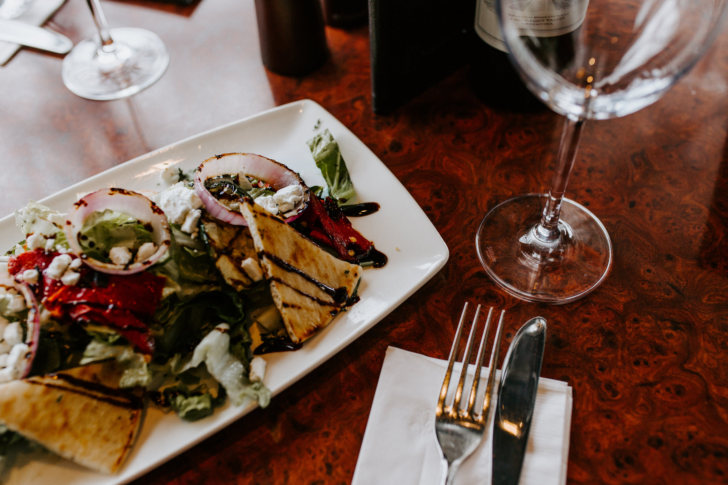 Fire-Roasted Vegetable Salad with Goat Cheese