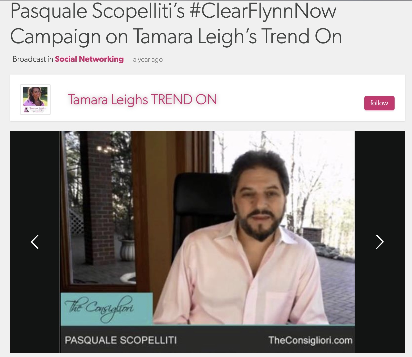 Tamara Leigh's Trend On - with Pasquale Scopelliti #ClearFlynnNow Part 1