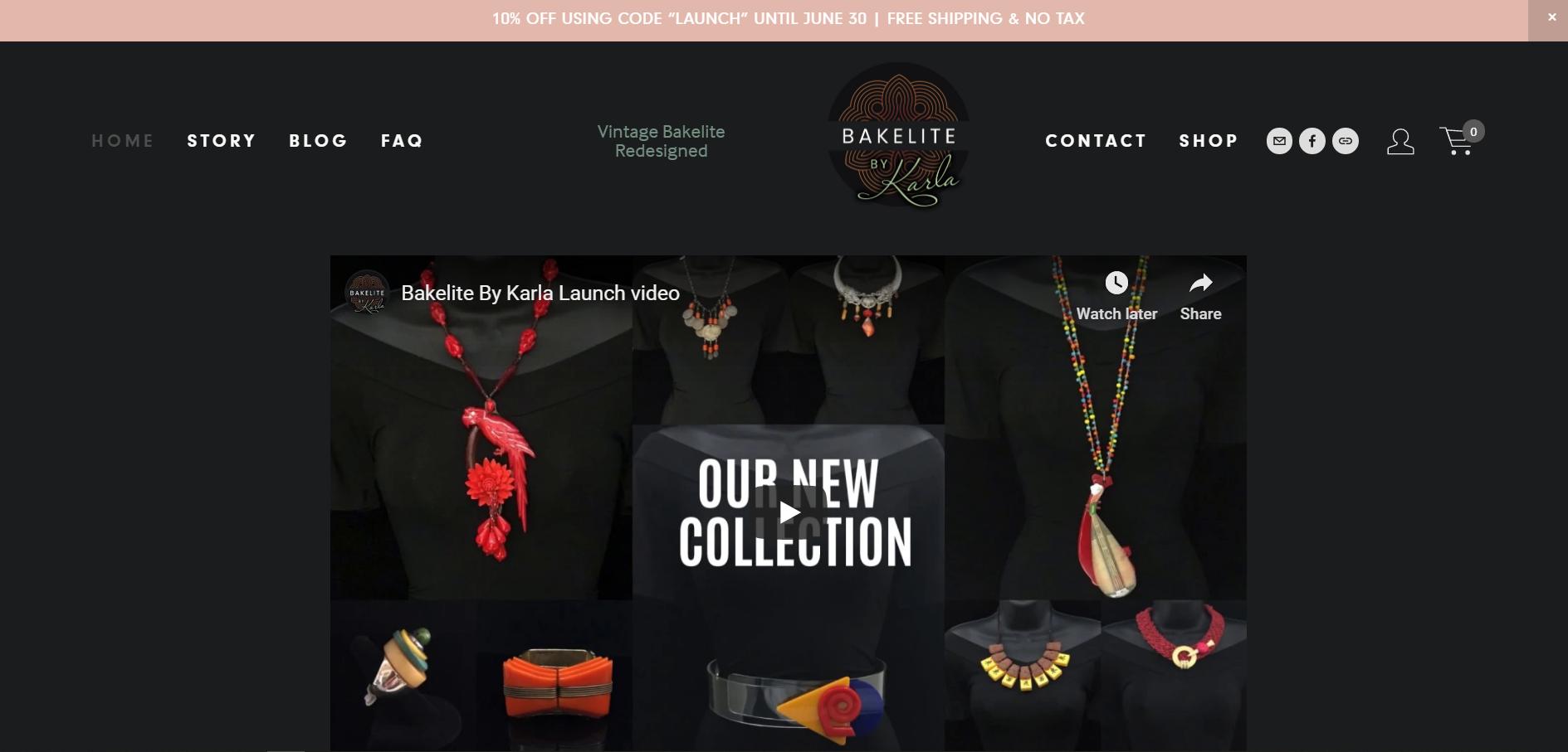 Bakelite By Karla - Ecommerce Jewelry Shop
