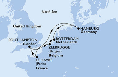 7 DAY EUROPE CRUISE歐洲 7日遊 – from £579* pp - United Kingdom, Belgium, Netherlands, Germany, France比利時、荷蘭、德國、法國from £579* pp(04, 11, 18 SEP 2019, 06 MAY 2020)
