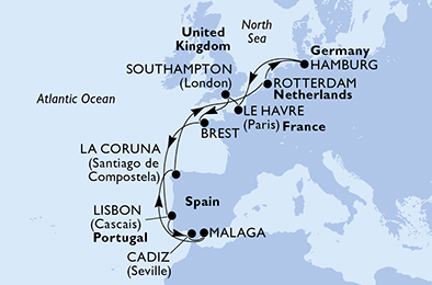 14 DAY EUROPE CRUISE歐洲 14日遊 – from £1199* pp - United Kingdom, France, Portugal, Spain, Netherlands, Germany法國、葡萄牙、西班牙、荷蘭、德國from £1199* pp(22 APR 2020).* 價格不含服務費及小費。* Prices does not include service charge and tip. * 所有優惠資料在發佈時皆為正確,但可能隨時基於任何理由改變而無須事先通知。* Please note, all the information on this offer is accurate at the time of publication. If you are viewing this offer at a later date or time, price and availability may no longer be as advertised.