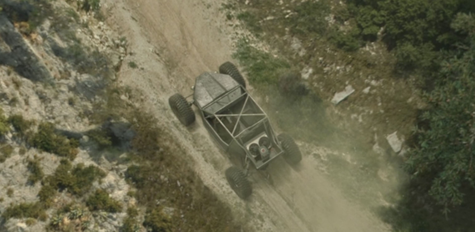 - The biggest challenge was recreating the chase sequence involving the off road vehicles. The original plates didn't give the required pace for this action set piece. BlueBolt recreated the same locations with the help of digital matte paintings, 2.5D projections and 3D environments, along with CG vehicles and digi-doubles to match the live action. We could then create the desired camera moves that the director wanted.