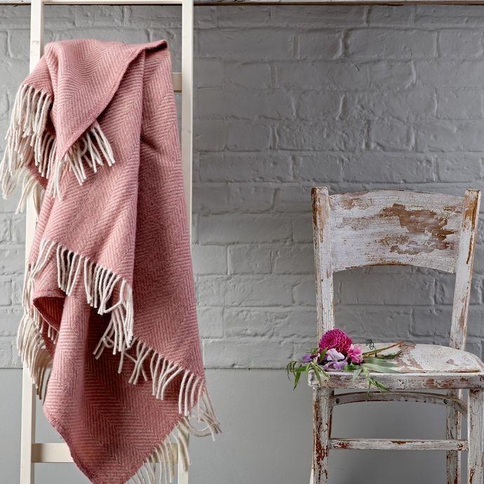 Wool Herringbone Throw - £79 - Salcombe