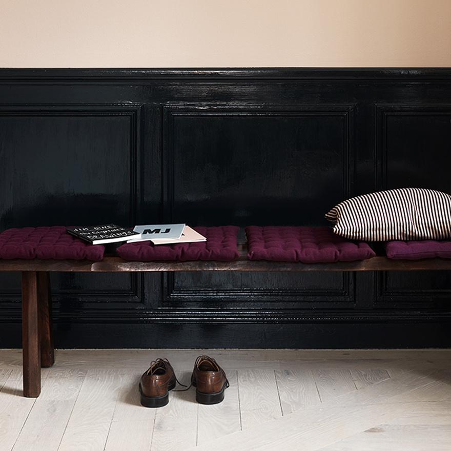 Pic: Linum Seatpad - Burgundy/Plum