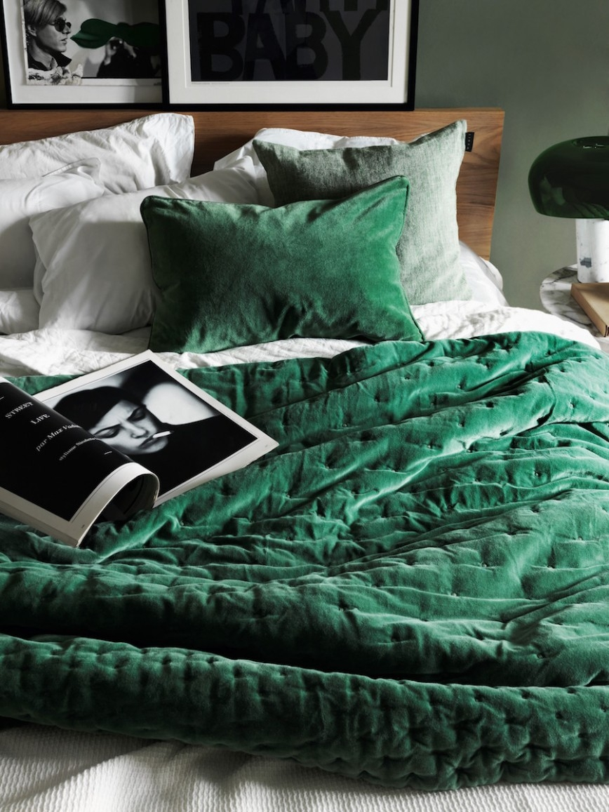 Emerald Paolo Cushion and Bedspread