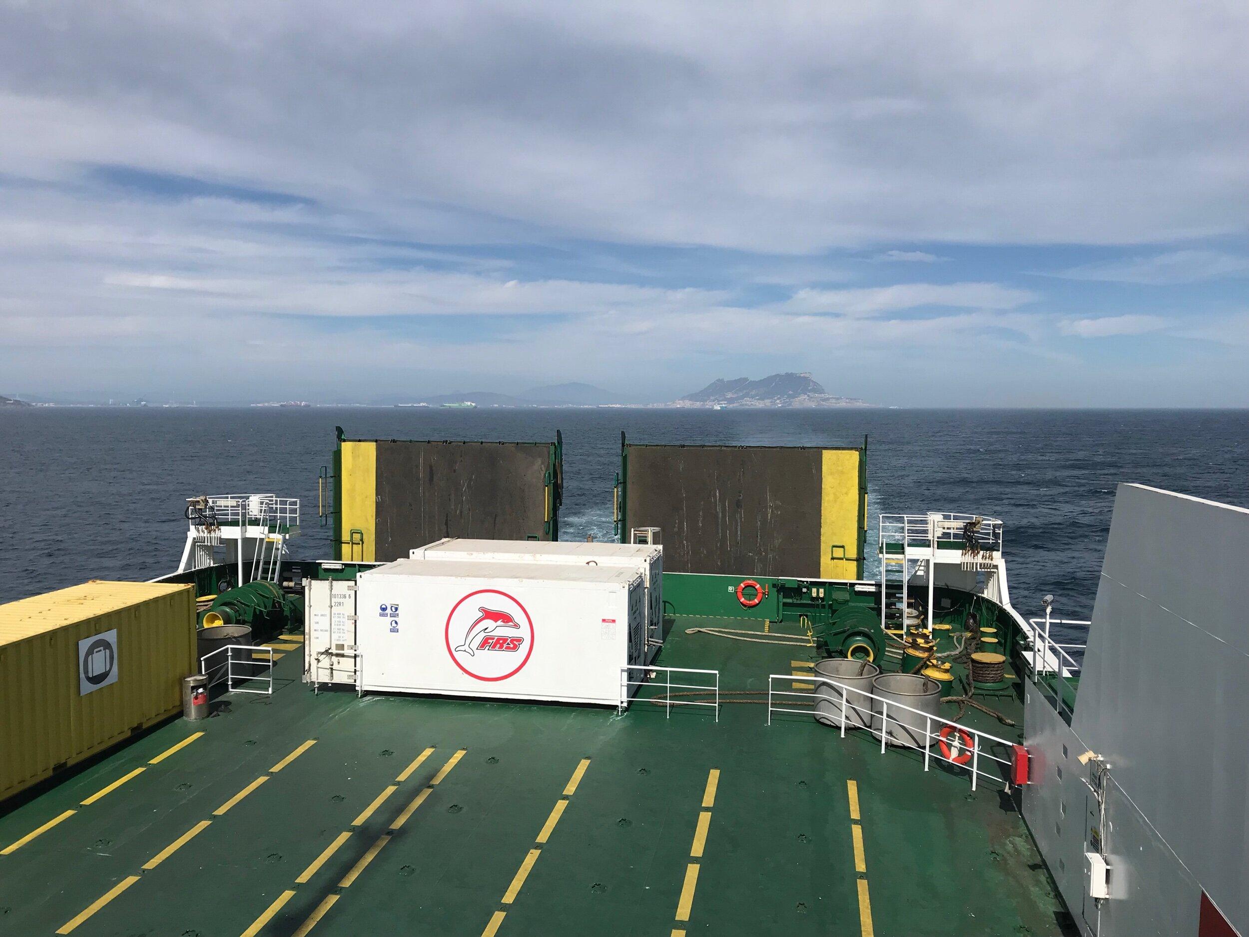Leaving Spain, the Rock of Gibraltar