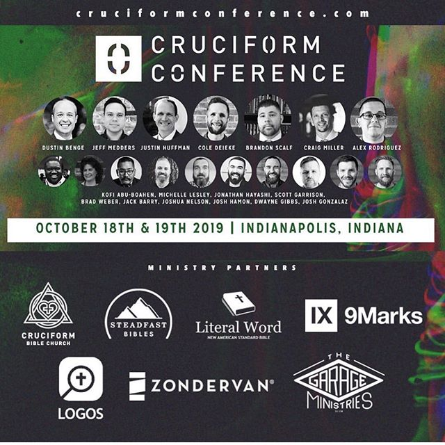 We really hope you will find a way to get to Indianapolis October 18th and 19th! We have prayed and labored hoping this would be a tremendous blessing in your life! You won't want to miss these speakers! ————————————— Follow @cruciformconference and @dustinwbenge  ————————————— #jesus #gospel  #theology #bible #biblestudy  #reformed #grace #godliness #community #pastors #preachers #devotion #doctrine #christ #godly #truth #truthbomb # #quote #godlyquote #scripture #crtvchurch #humblecalvinism #esv #nasb #cruciformcon #cruciformed #cruciform #preachersbible