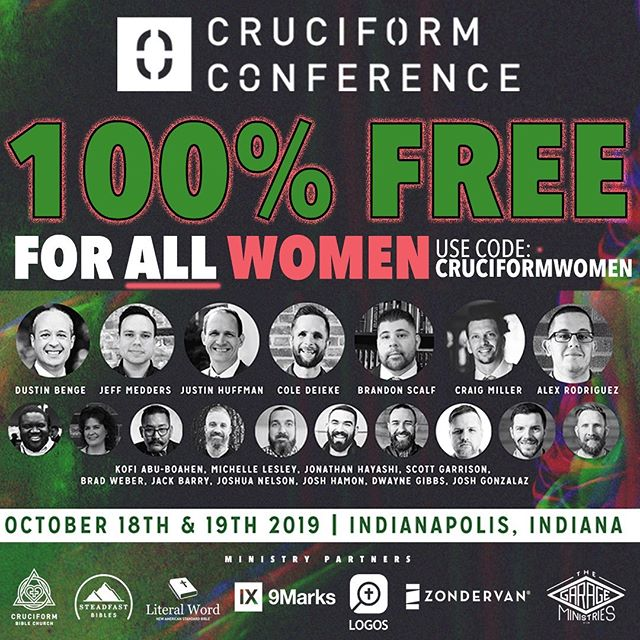 We want women to be trained and encouraged by the word of God! And we don't want you to miss @mdlesley !! Therefore we are doing completely FREE tickets for all women, for a limited time. Get your tickets now!! Michelle Lesley will be teaching 2 beakout sessions at the #CruciformConference that you won't want to miss: (1) Faithfully Fighting Feminism: Fighting the Good Fight by Walking Out Biblical Womanhood and (2) Hooked on a Feeling: Living by God's Word Instead of Our Emotions!For more info go to cruciformconference.com! ————————————— Follow @mdlesley  ————————————— #Jesus #gospel#theology #bible #biblestudy#reformed #grace #godliness  #teachers #preachers #devotion #doctrine #christ #godly #truth #truthbomb #quote #godlyquote #scripture #crtvchurch #esv #nasb #cruciformcon #cruciformed #cruciform #preachersbible #womanhood #biblicalwomanhood #biblicalwomen