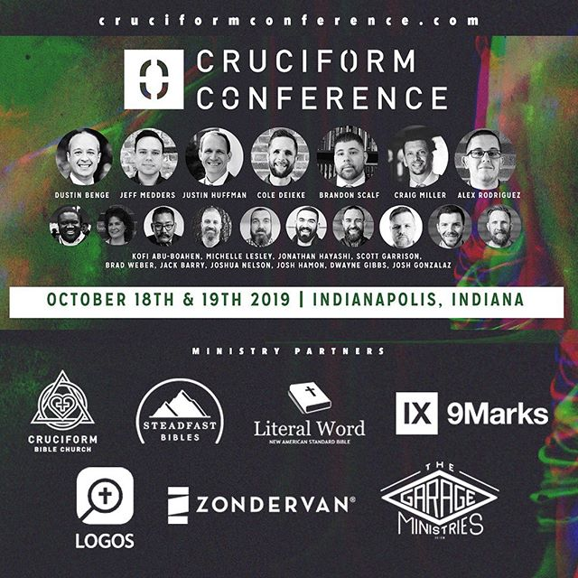 This weekend it's going down!  Pleas get your tickets!! You won't regret hearing these speakers!————————————— Follow @cruciformconference and @dustinwbenge  ————————————— #jesus #gospel  #theology #bible #biblestudy  #reformed #grace #godliness #community #pastors #preachers #devotion #doctrine #christ #godly #truth #truthbomb # #quote #godlyquote #scripture #crtvchurch #humblecalvinism #esv #nasb #cruciformcon #cruciformed #cruciform #preachersbible