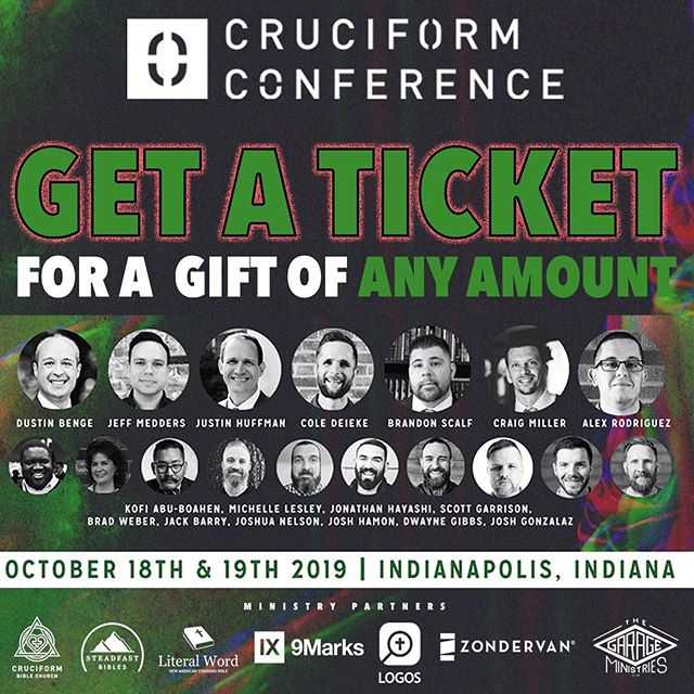 No excuses not to come now! We have decided if you want to be here, we want to remove any financial barrier that might be standing in the way! Name your ticket price - even if it's $1! #Please get your tickets!! You won't regret hearing these speakers!————————————— Follow @cruciformconference and @dustinwbenge  ————————————— #jesus #gospel  #theology #bible #biblestudy  #reformed #grace #godliness #community #pastors #preachers #devotion #doctrine #christ #godly #truth #truthbomb # #quote #godlyquote #scripture #crtvchurch #humblecalvinism #esv #nasb #cruciformcon #cruciformed #cruciform #preachersbible