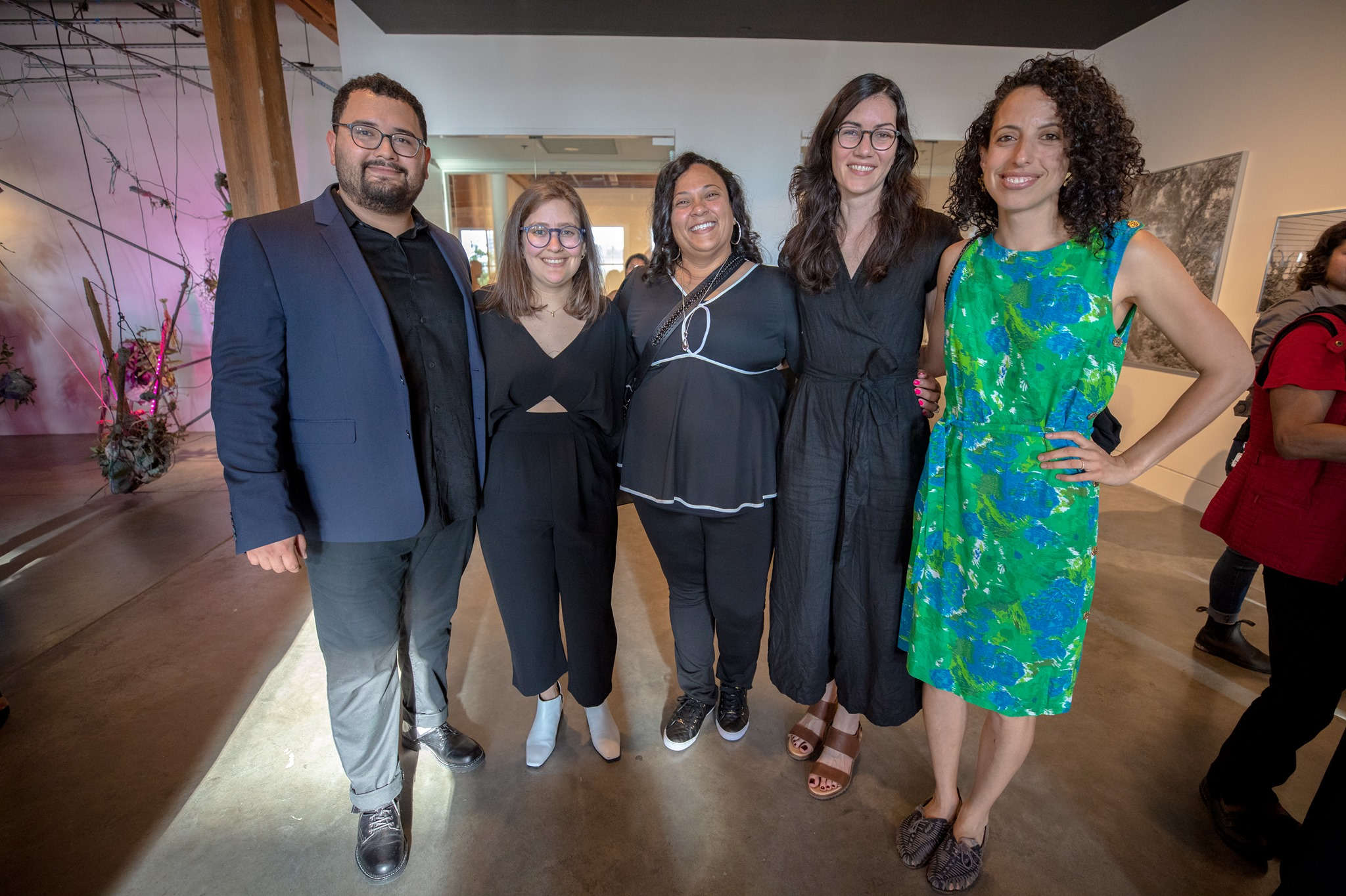 Left to right: space-ship co-founders Joel Campo and Julia Vlock with space-ship fellows Allison Beondé, Carla Simone, and Hannah Chalew