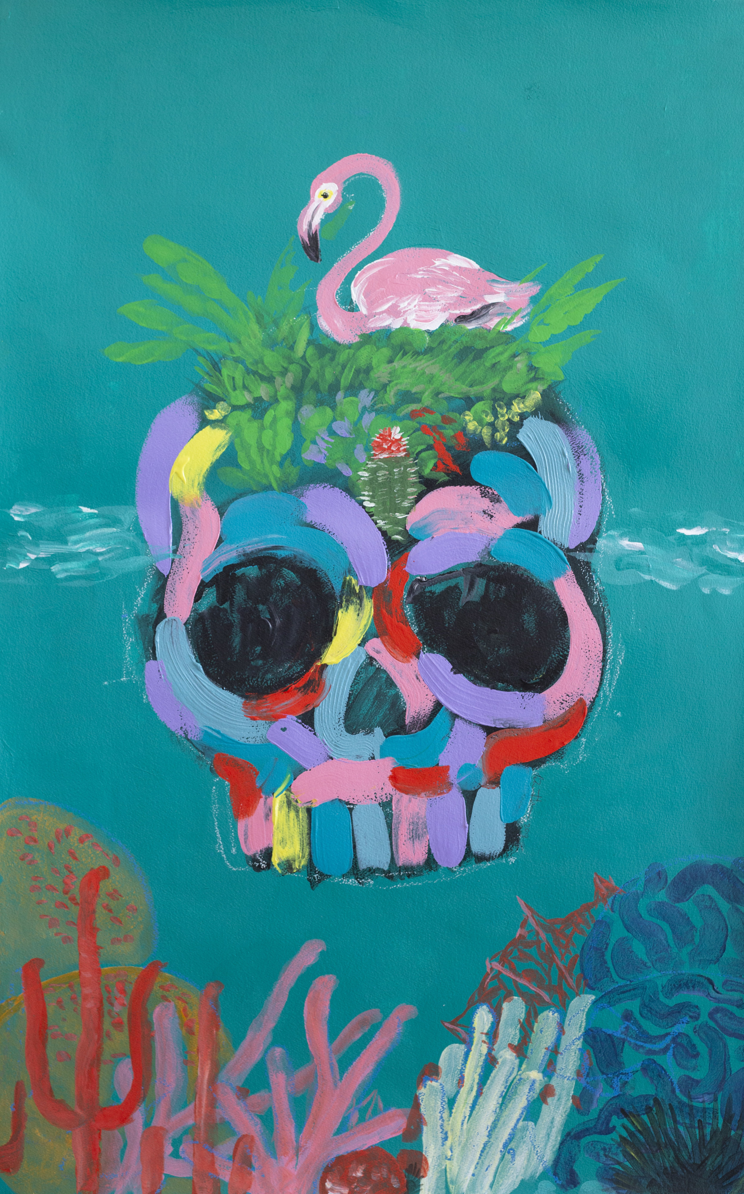The inaugural Turks & Caicos Film Festival poster by Bradley Theodore