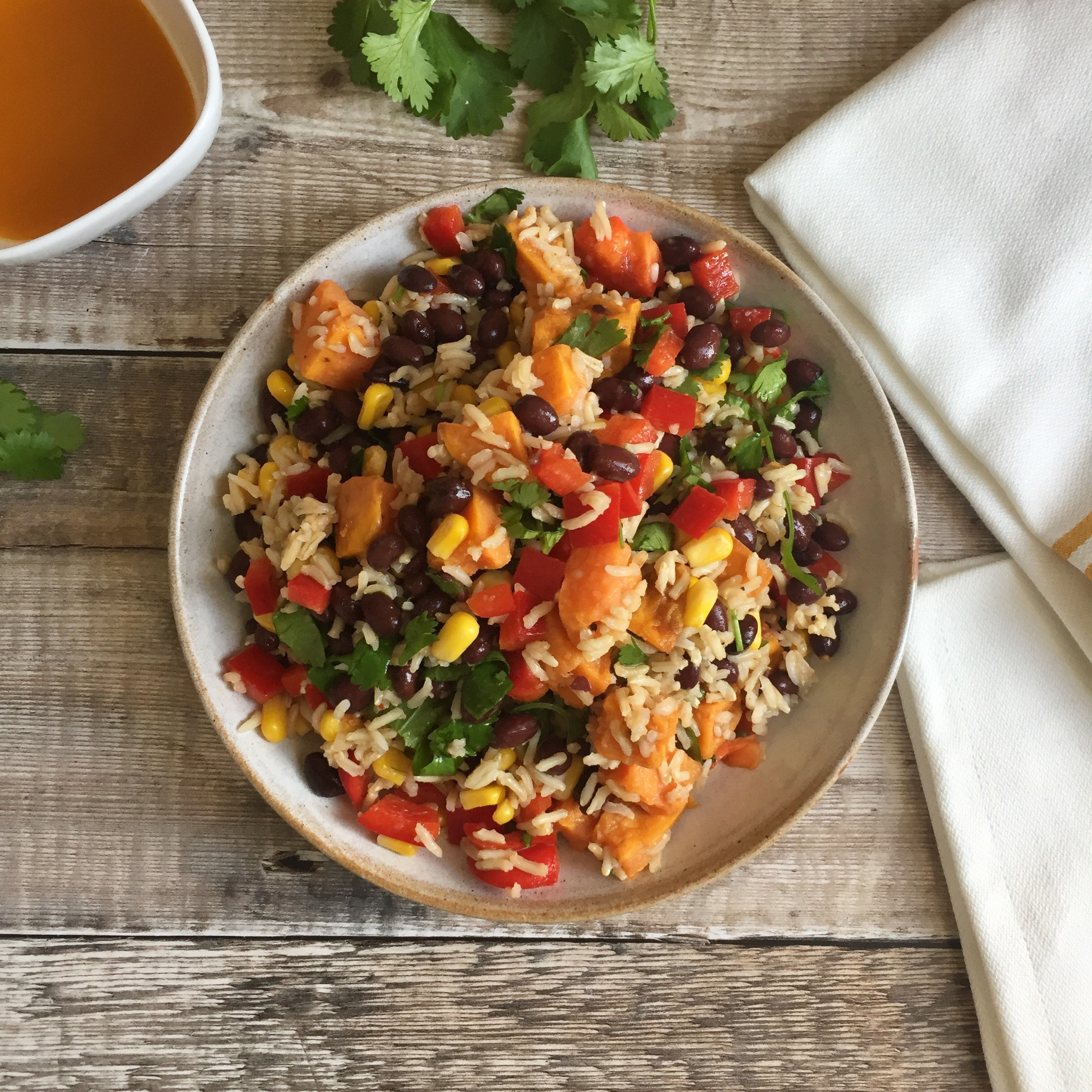 Brown Rice Salad with Harissa & Lime Dressing