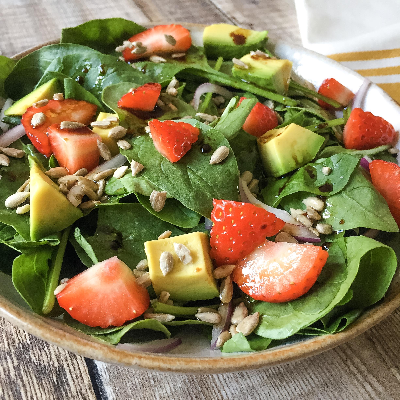 Spinach, Strawberry & Avocado Salad Nourish by Rebecca1.JPG