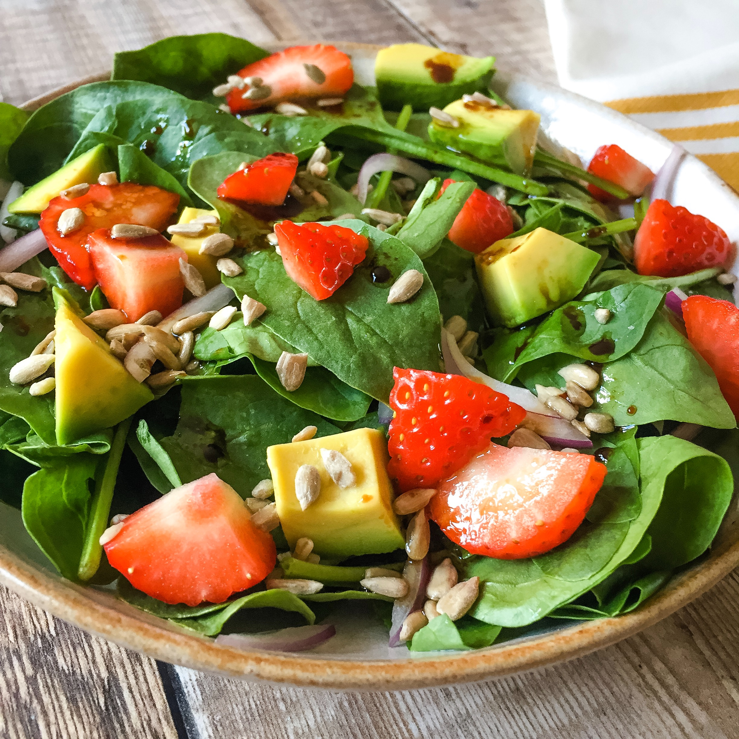 Spinach, Strawberry & Avocado Salad