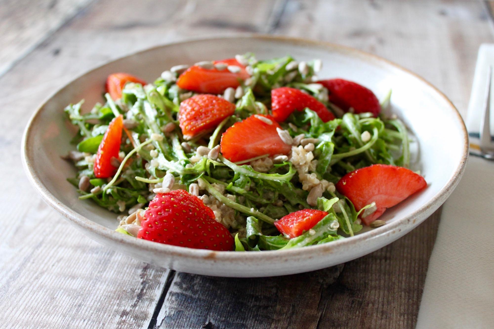 Strawberry Quinoa Arugula Salad Nourish by Rebecca.jpg