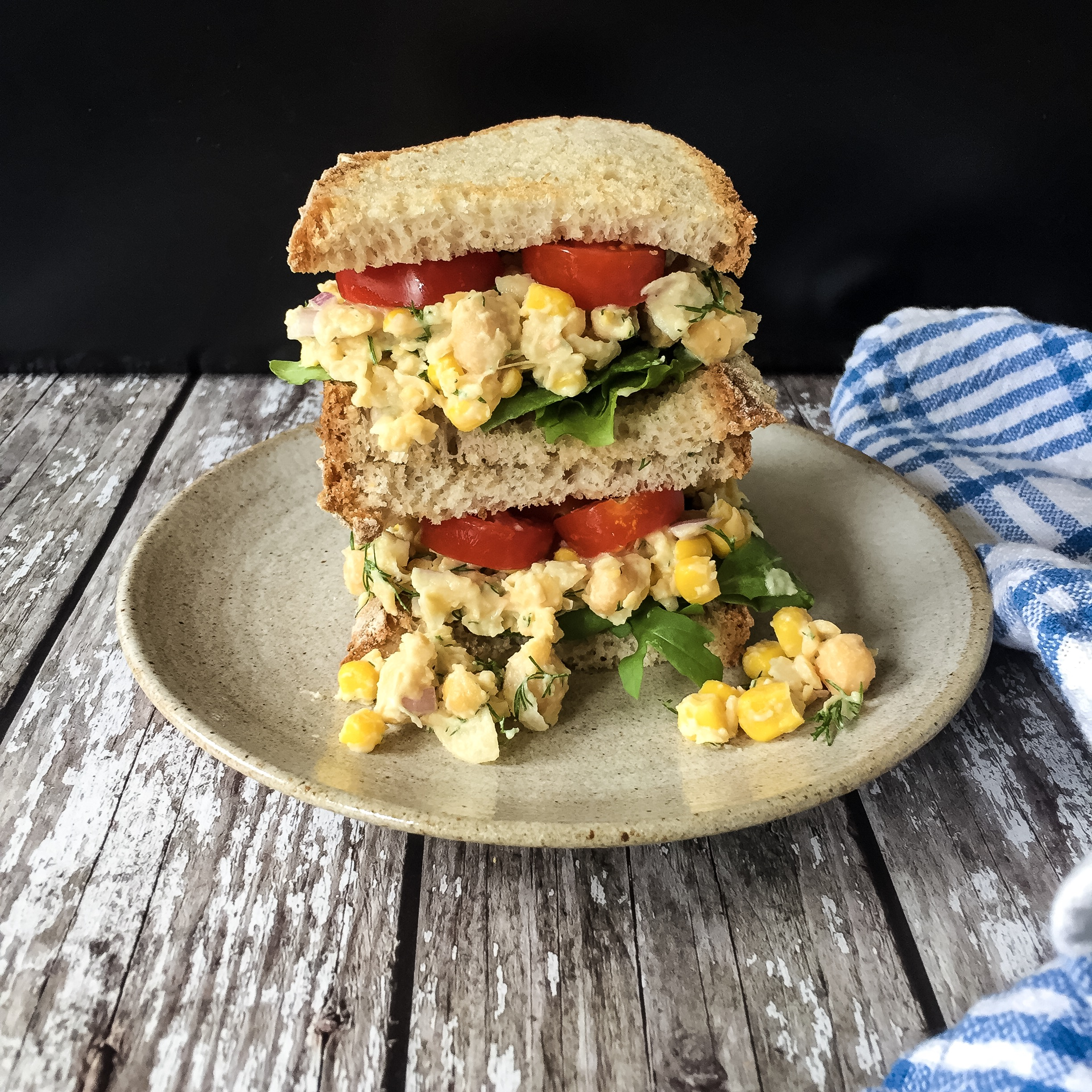 Smashed Chickpea & Sweetcorn Mix