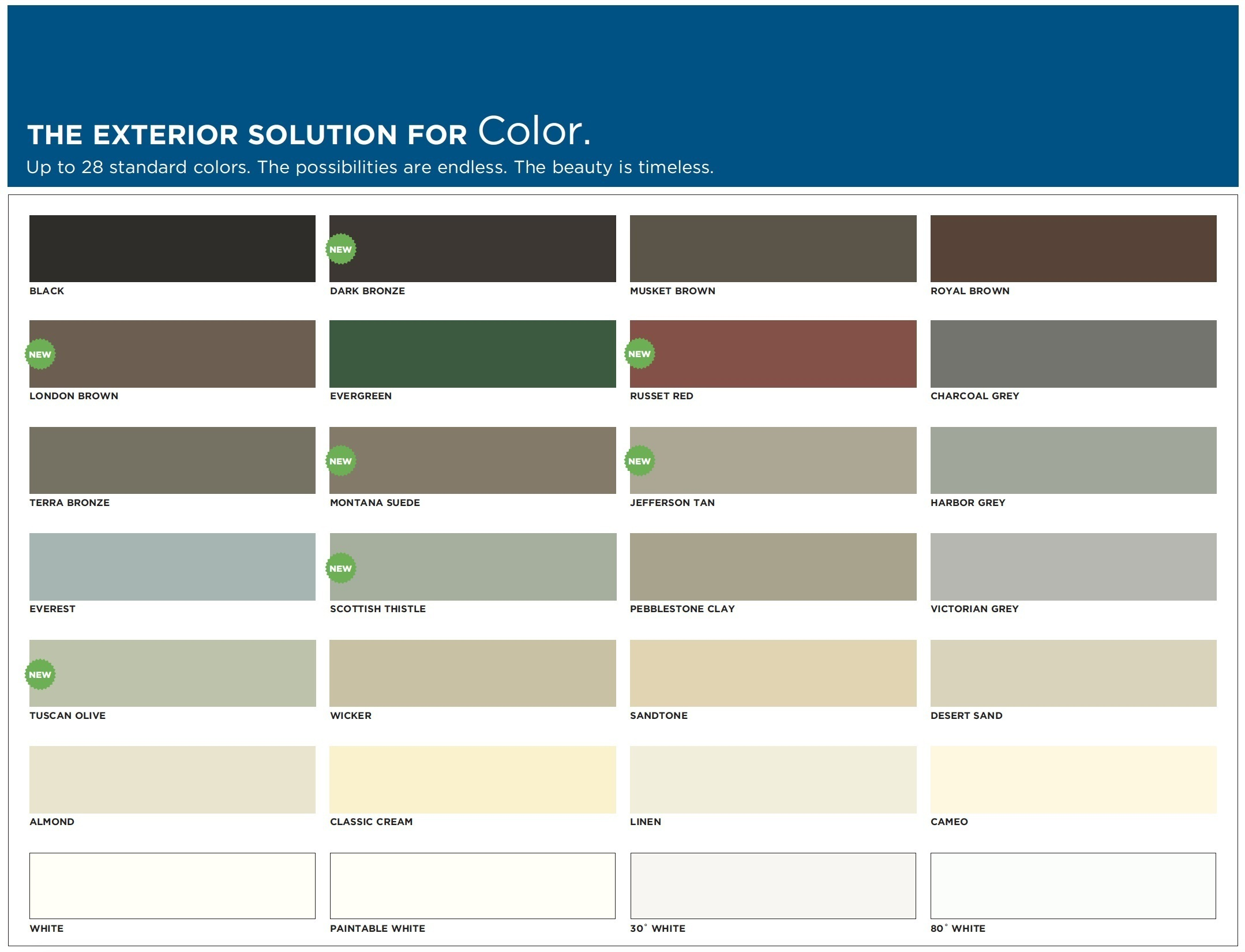 If you are ready to choose your gutter color, click on the image to to expand and take a closer look.
