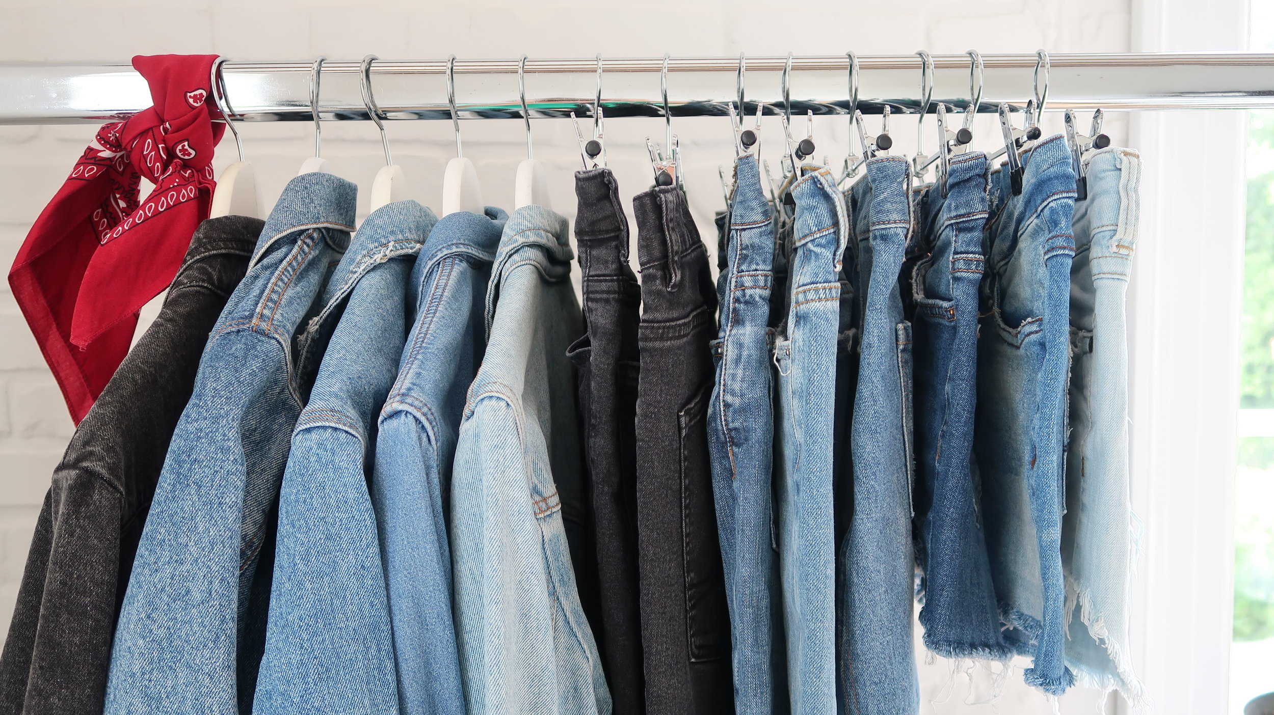 Reworked Denim - It takes 7,600 litres of water to produce just one pair of jeans. By buying denim secondhand you are saving much needed water resources and potentially another piece of clothing from landfill. All denim at Style Resurrection is preloved, distressed by hand and only looks better with age.