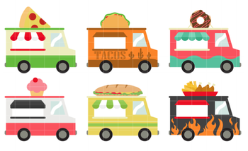 Food truck picnic in the park -