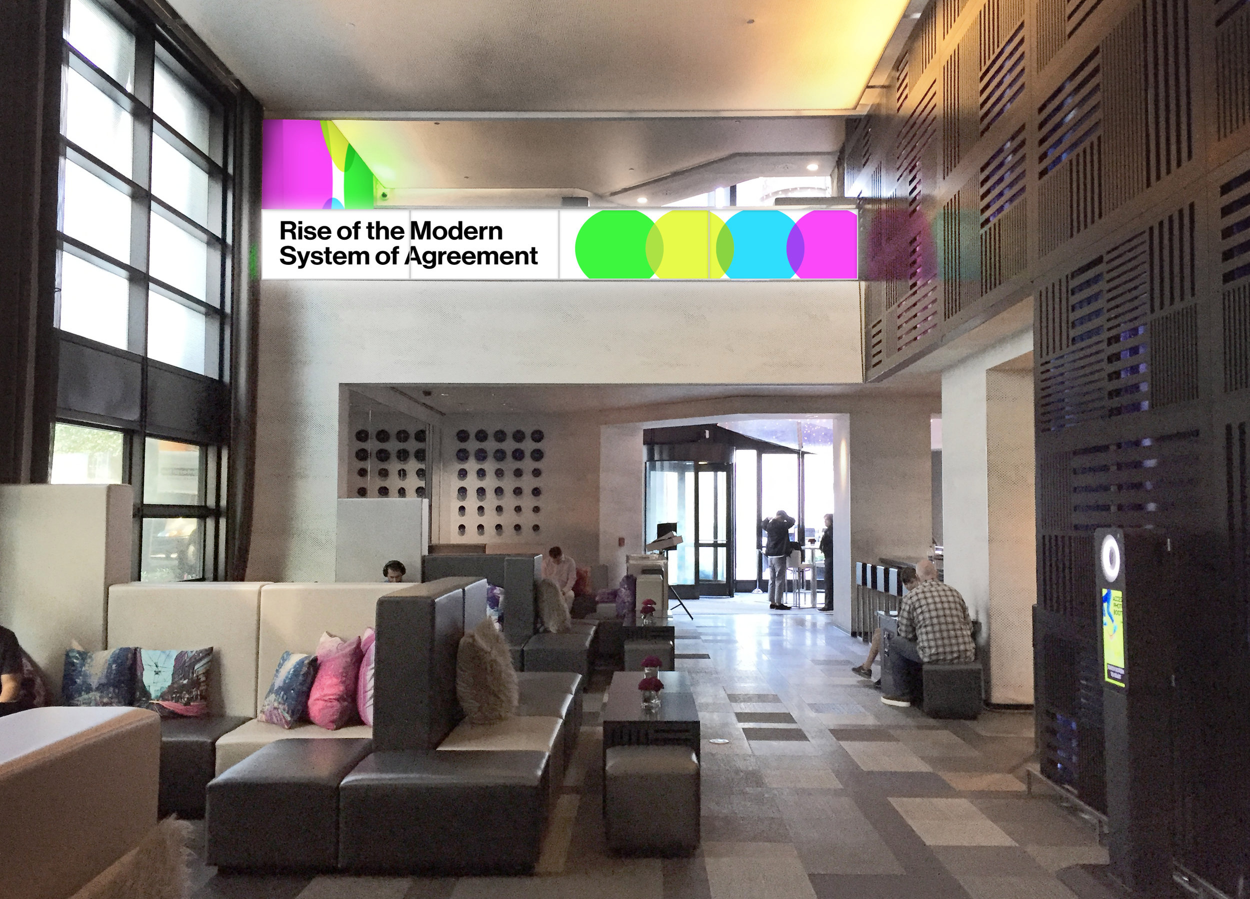 W Hotel Lobby Graphics Installation - DocuSign® at the W Dreamforce® Event