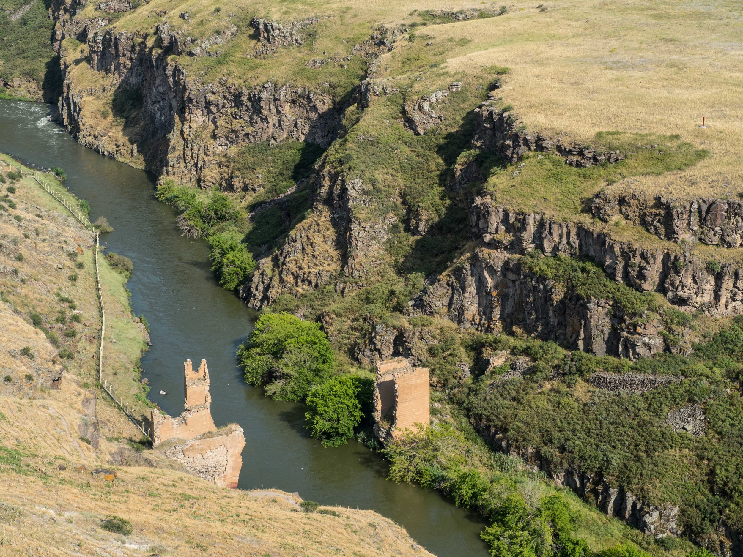 Ani — Former Silk Road Bridge — Now, border with Armenia. (off limits)