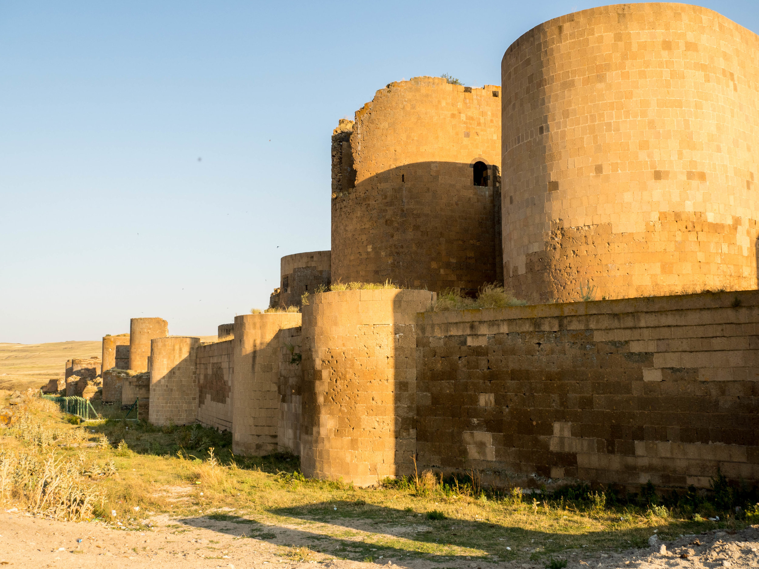 Restored City Walls — Exterior (in the evening sun)