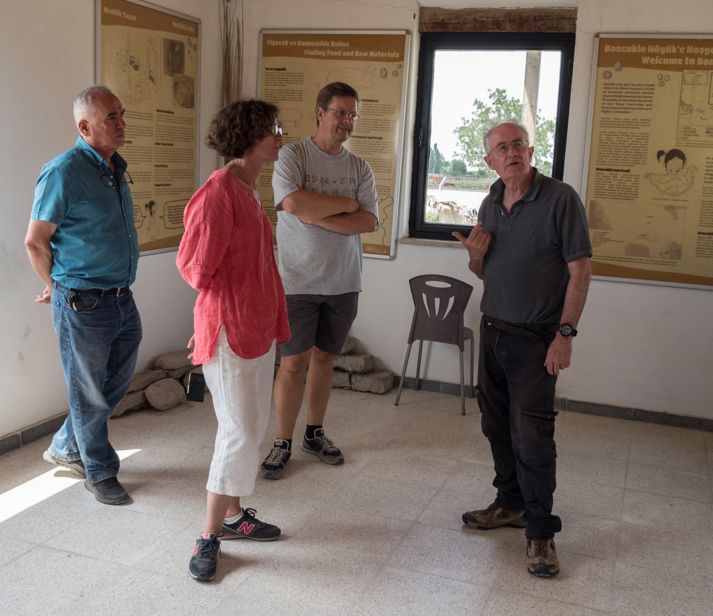 Memet (Driver and Carpet Dealer), Sara, Carsten, and Professor Douglas Baird