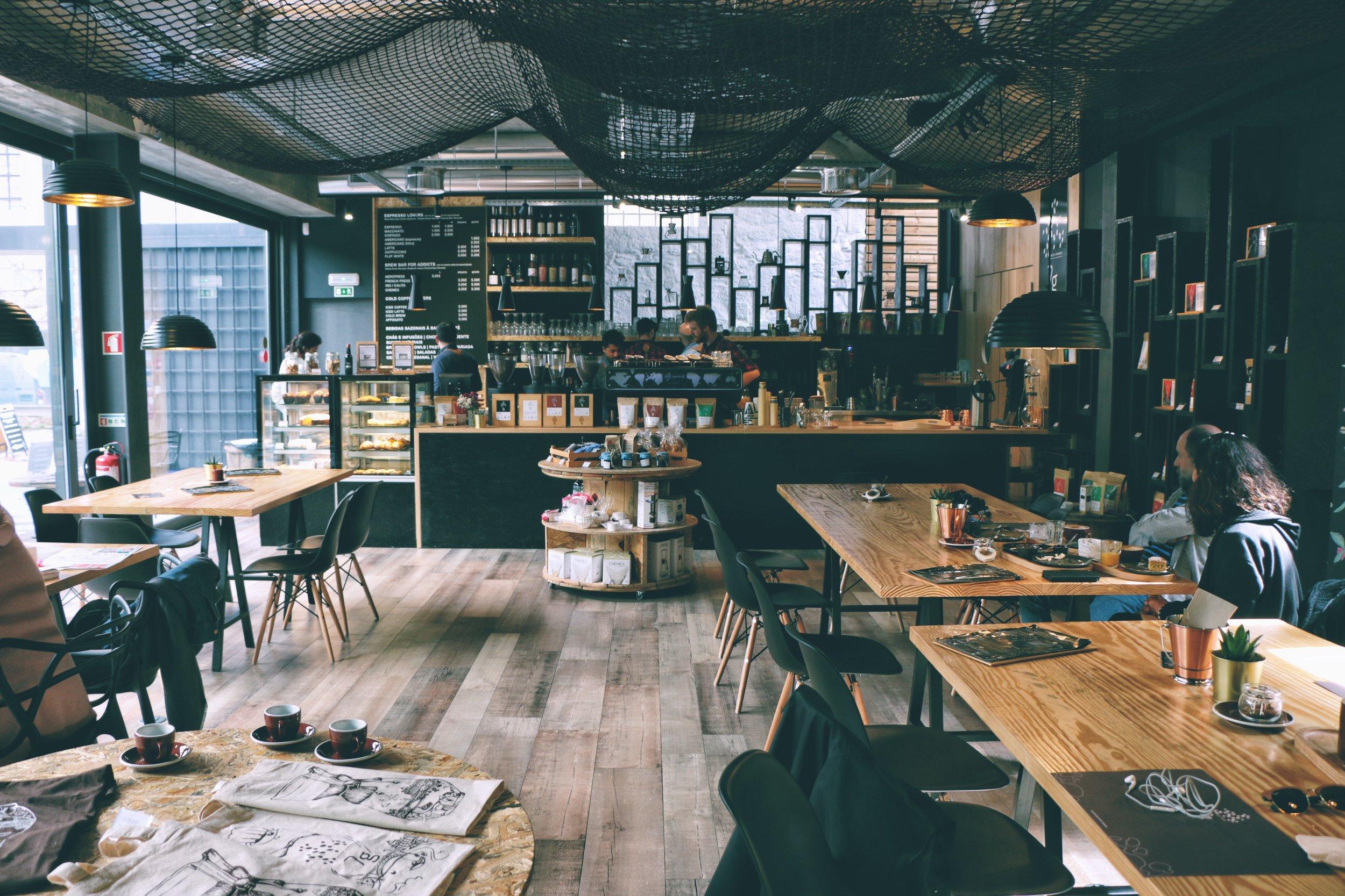 rustic cafe design