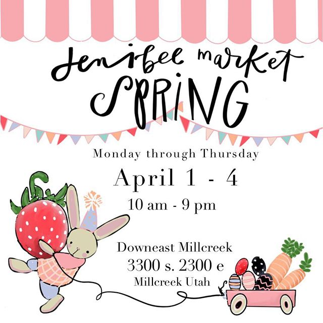 Spring Market Time! 💕👏🌷☀️ Utah people make sure not to miss this! There are so many incredible vendors!