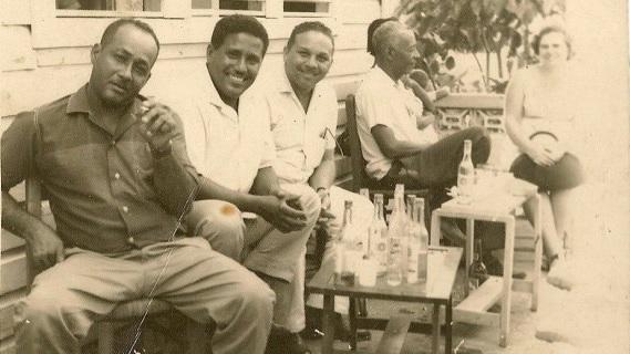 My grandfather, Ricardo Vargas, to the left.