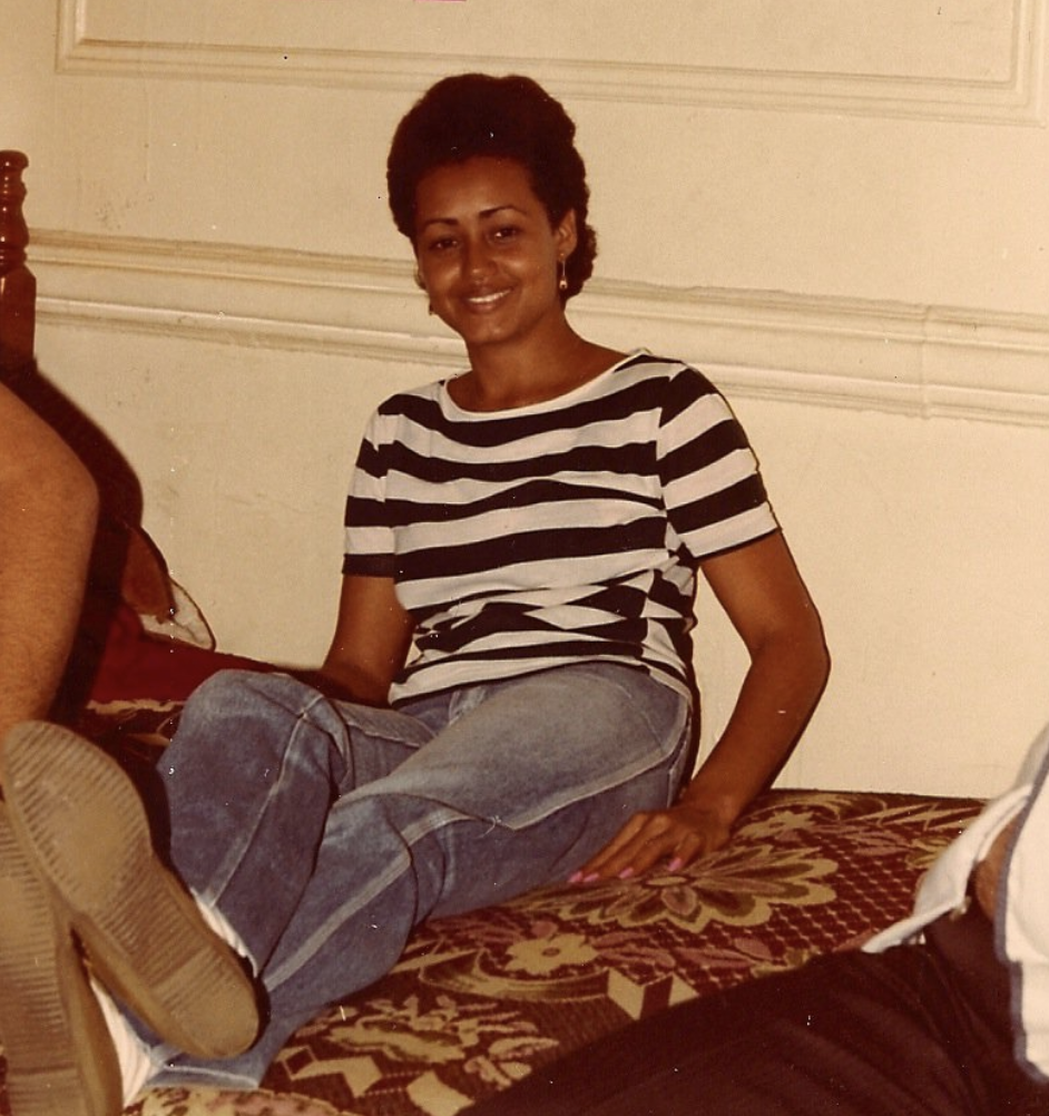 My mother, Miriam, right after arriving to NYC. This photo was taken during the mid 80s in Brooklyn.