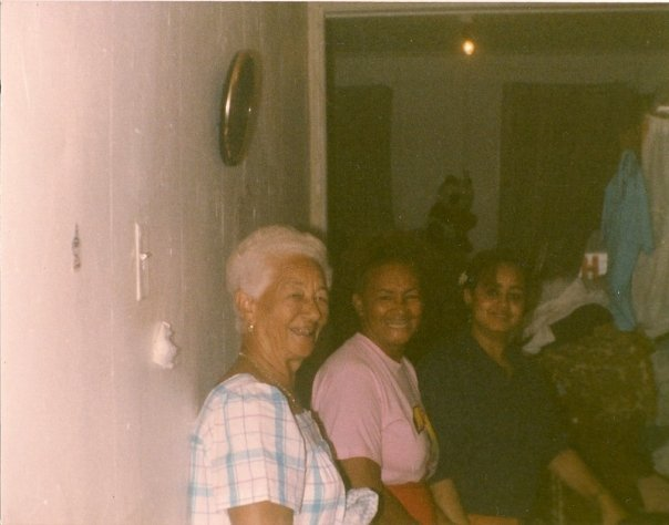 Three generations of mothers: Filomena, my great-grandmother, Nigela, my grandmother, and Miriam, my mother. This photo was taken in Brooklyn during the late 80s.
