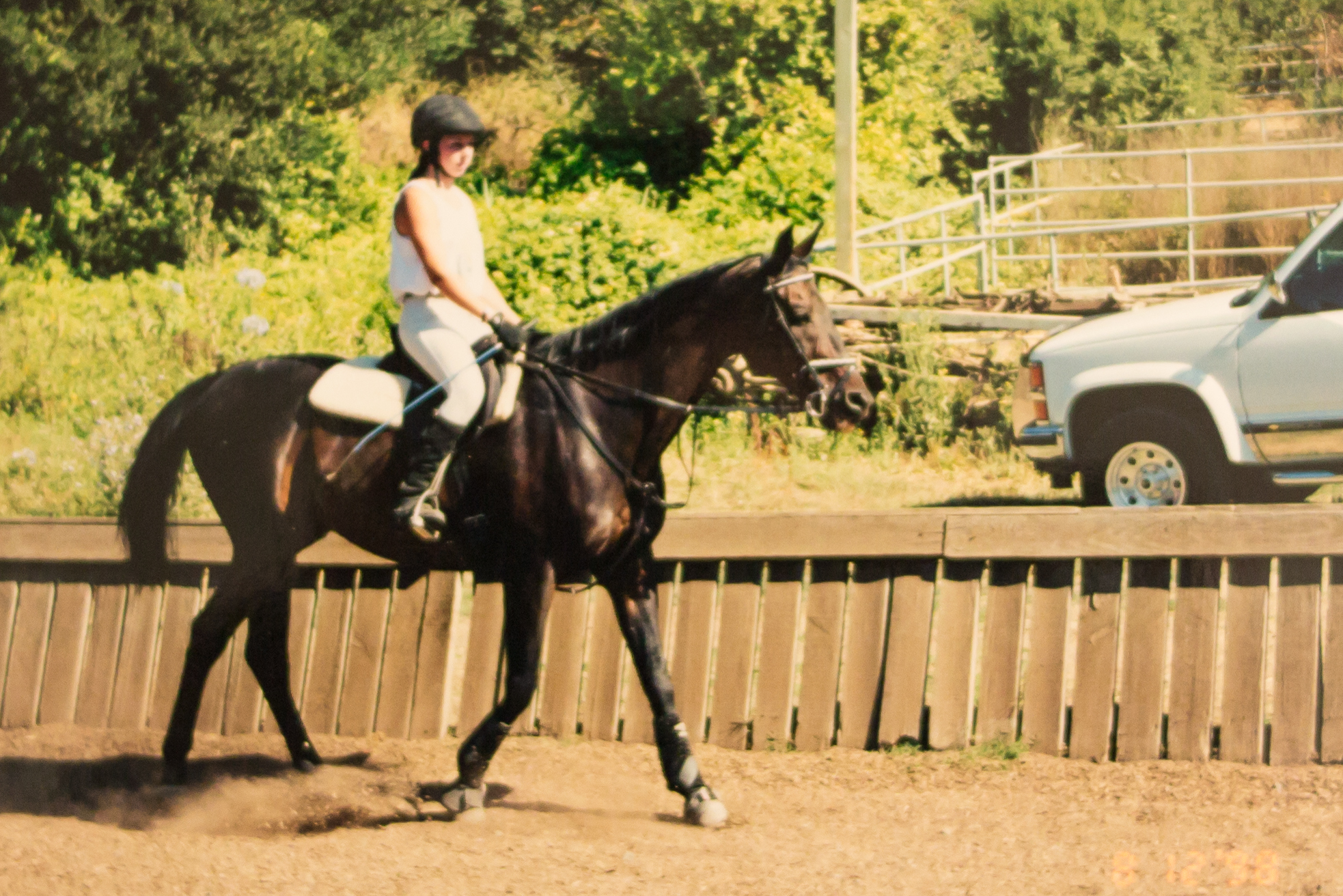 Riding Sid at Garrod Farms in Saratoga, CA