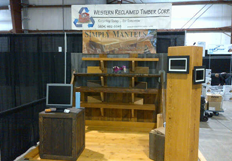 West Coast Women's Show - Come visit us at the West Coast Women's show that happens every October. You can see some of our beautiful barnboard, flooring and mantels on display.